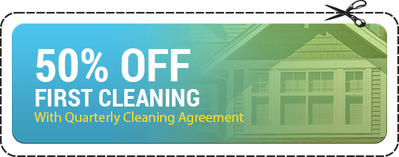 50% off first Cleaning