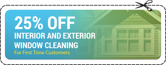 25% off interior and exterior window cleaning